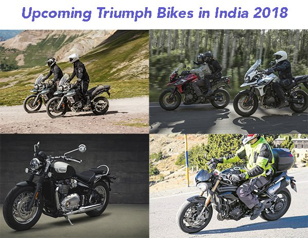 upcoming triumph bikes in india 2018