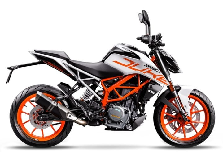 2018 KTM 390 Duke White Colour Model