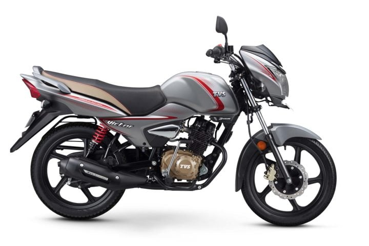 Best bikes Under Rs 60000 - 2018 TVS Victor Premium Edition Matte Series Silver right side image