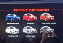 2018 maruti suzuki swift colours