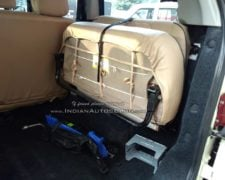 Mahindra TUV300 Plus Images interior rear seat folded lucknow