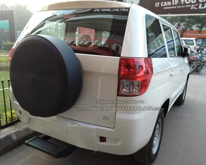 Mahindra TUV300 Plus Images rear three quarters lucknow
