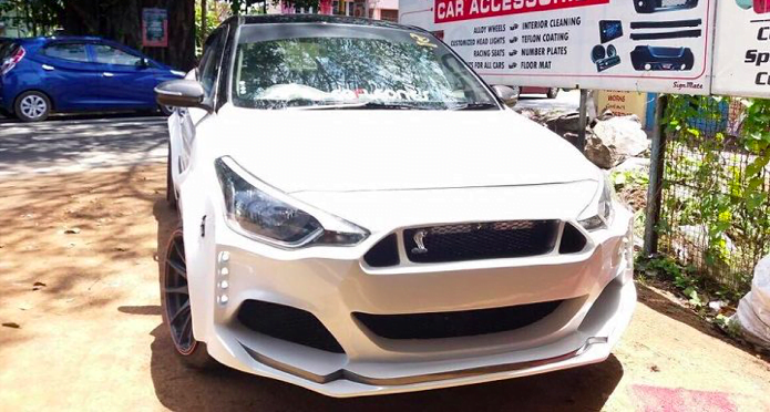 This Modified Hyundai i20 Thinks It's a Ford Mustang!