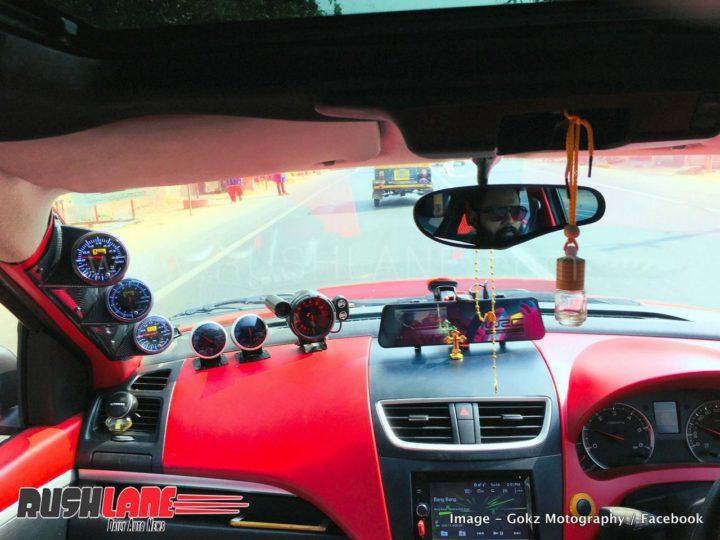 modified maruti swift images interior dashboard