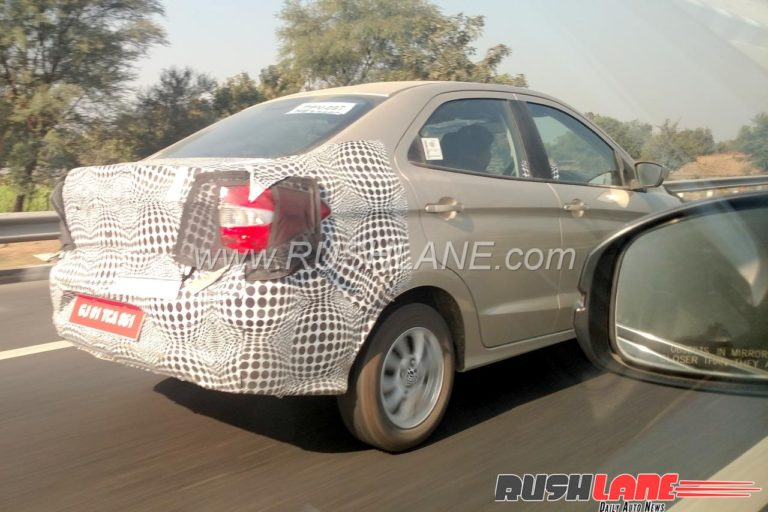 2018 Ford Aspire Facelift Spied Again, Launch Soon