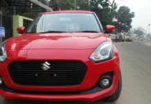 new maruti swift 2018 red colour images front