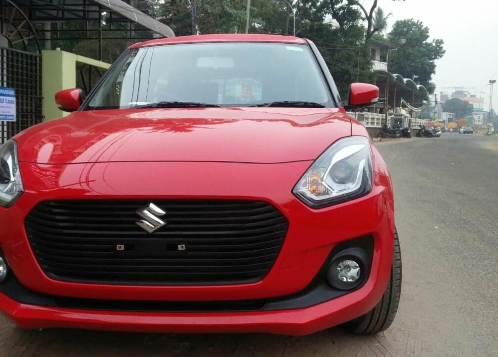 New Maruti Swift 2018 Red Colour Images Front Carblogindia