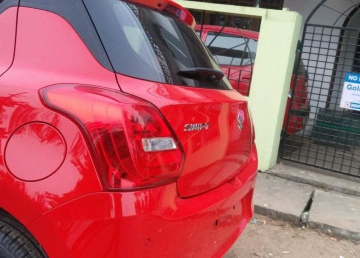 new maruti swift 2018 red colour images rear taillamp