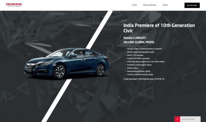2018 Honda Civic Website
