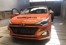 2018 Hyundai i20 facelift Flame Orange front image