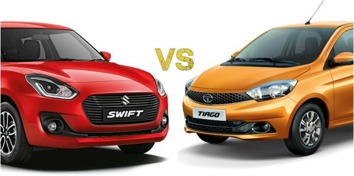 2018 Maruti Suzuki Swift Vs Tata Tiago Main