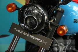 2018 Royal Enfield Thunderbird 500x headlamps profile