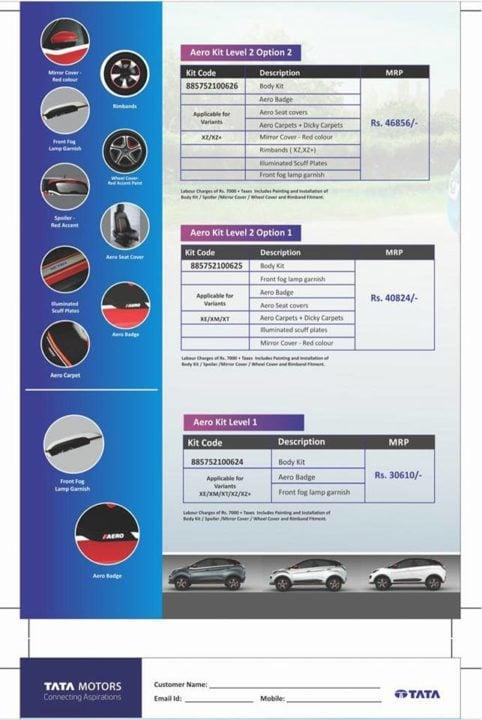 2018 Tata Nexon Aero Edition brochure 2