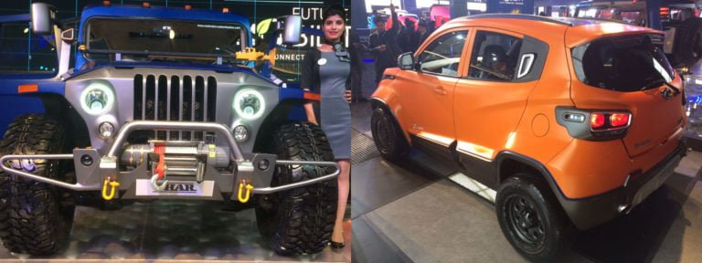 Mahindra Thar Wanderlust and KUV Xtreme Debut at Auto Expo 2018
