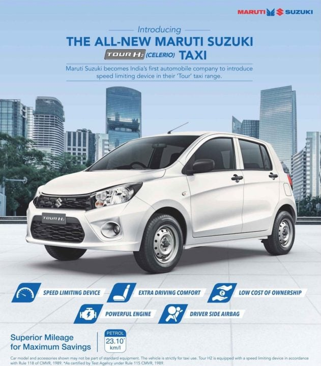Maruti Celerio Tour H2 taxi model brochure image front page