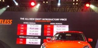 all new maruti suzuki swift price