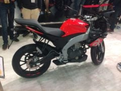 aprilia tuono 150 cc motorcycle images from auto expo 2018