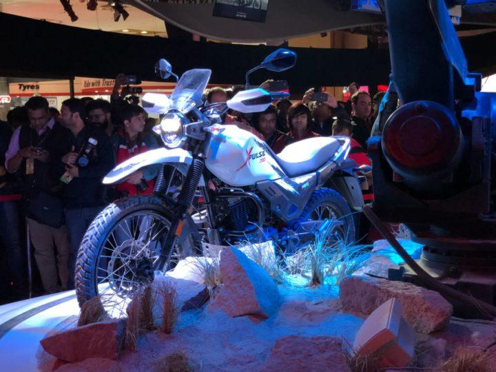 hero xpulse india debut at auto expo 2018