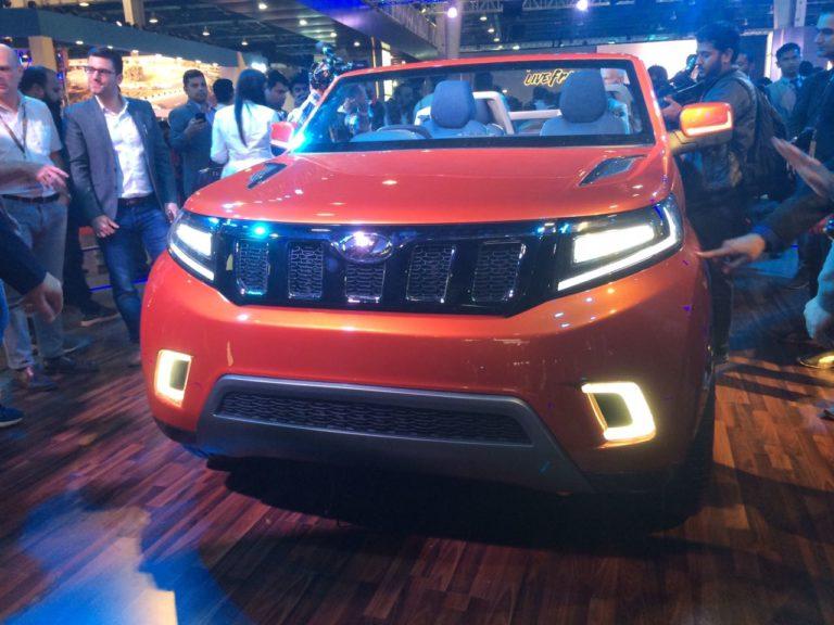 Mahindra Stinger Convertible SUV Debuts at Auto Expo 2018 – Images & Details