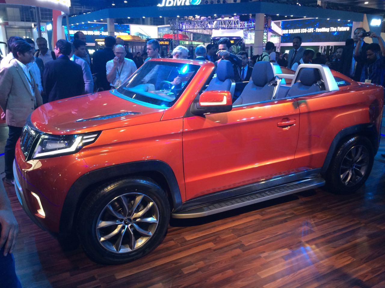 Mahindra Stinger Convertible Suv Debuts At Auto Expo 2018