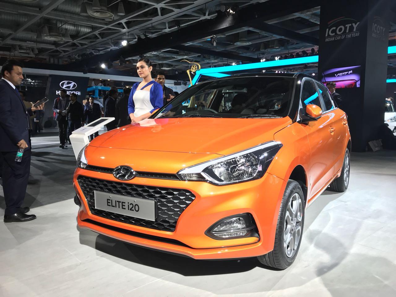 new 2018 hyundai elite i20 images front-angle orange black