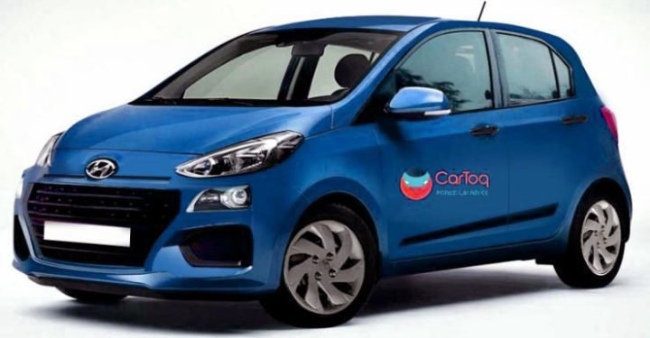 new hyundai santro blue colour speculative image