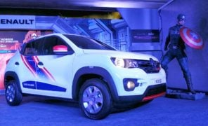 renault kwid superhero edition captain america images