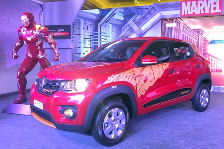 renault kwid superhero edition ironman images 1