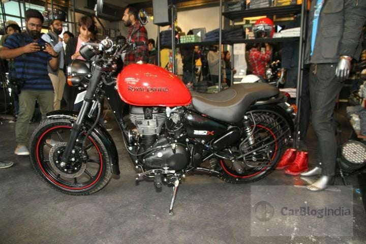 royal enfield thunderbird 350x side profile