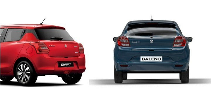 2018 maruti suzuki swift vs baleno spec based comparison. Black Bedroom Furniture Sets. Home Design Ideas
