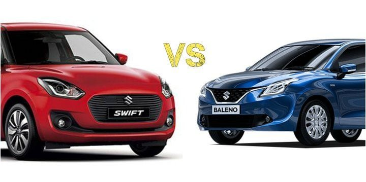 2018 Maruti Suzuki Swift Vs Baleno main