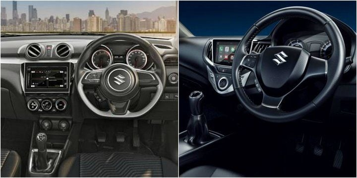2018 Maruti Suzuki Swift Vs Baleno interiors
