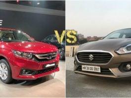 New Honda Amaze vs 2018 Maruti Suzuki Dzire main