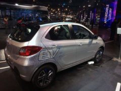 tata tiago electric vehicle images rear angle