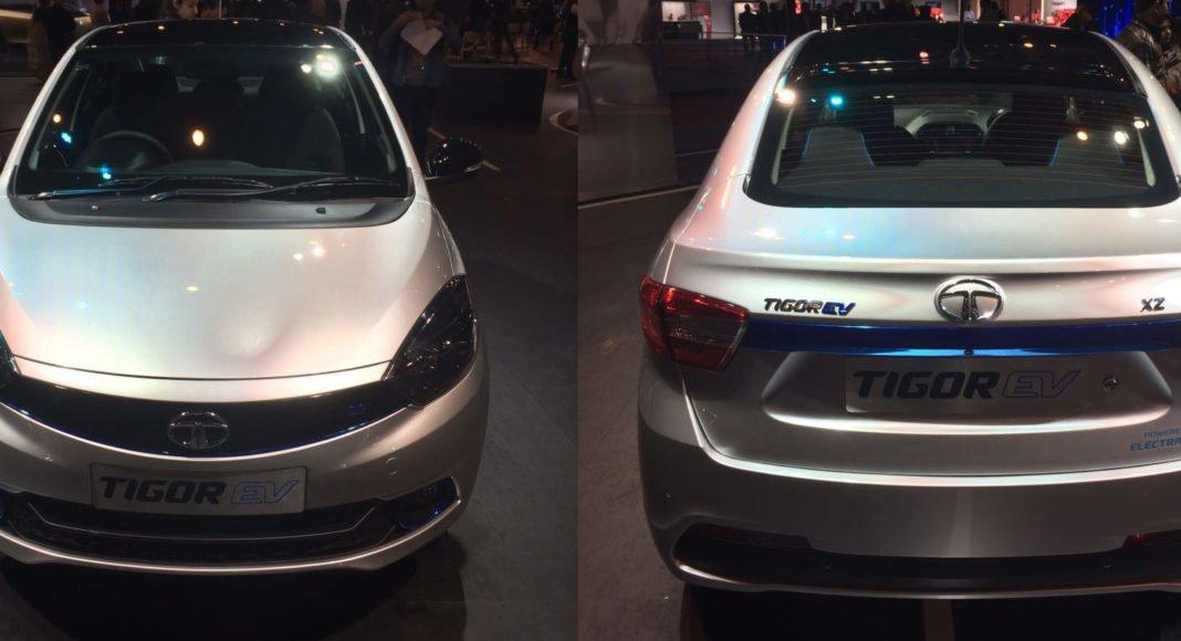 tata tigor electric vehicle images front rear
