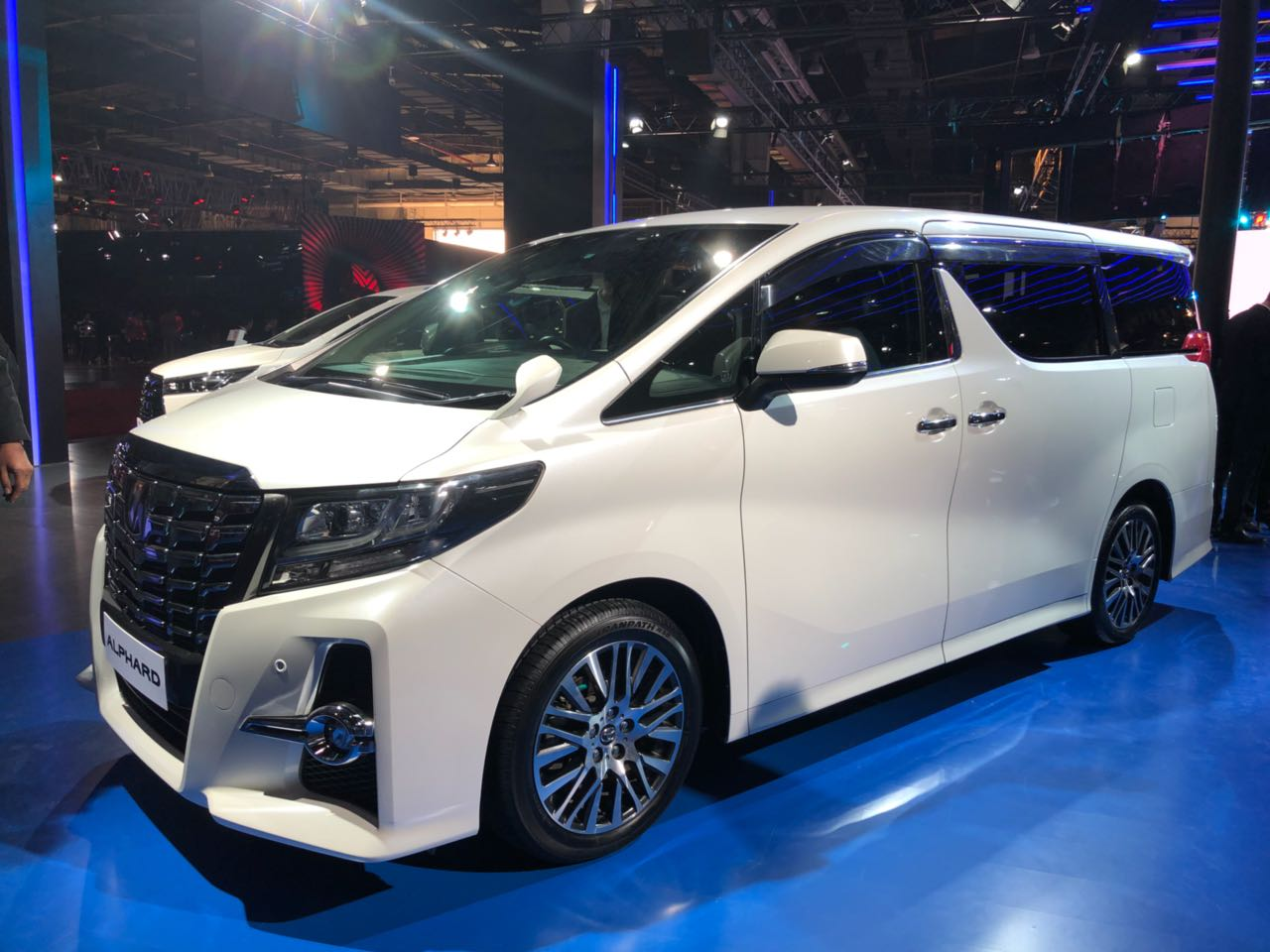 Toyota Alphard Images Auto Expo Images on smartphone wireless speakers