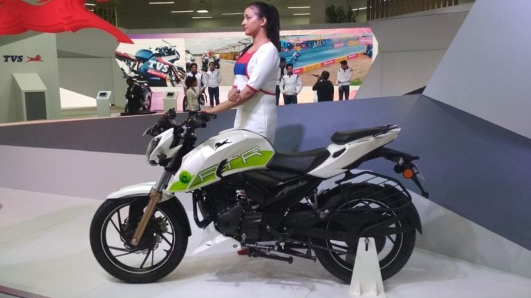 2018 TVS Apache RTR 200 Ethanol Debuts at Auto Expo 2018