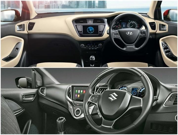 2018 Hyundai Elite i20 Vs Maruti Baleno Interior Profile