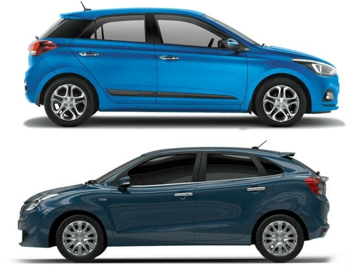 2018 Hyundai Elite i20 Vs Maruti Baleno Side Profile