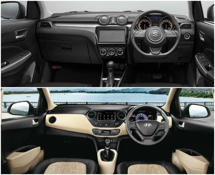 2018 Maruti Suzuki Swift Vs Hyundai Grand i10 Interiors Profile