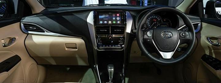 2018 Toyota Yaris interior profile