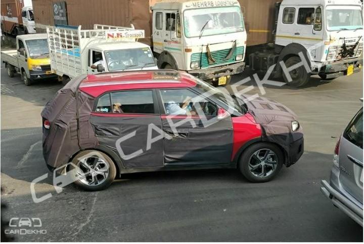Hyundai Creta Facelift Spy Shot Side Profile