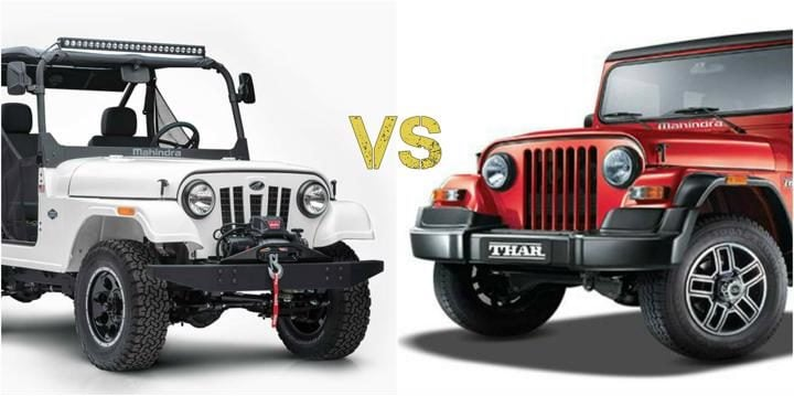 Mahindra Roxor Vs Mahindra Thar What S The Difference