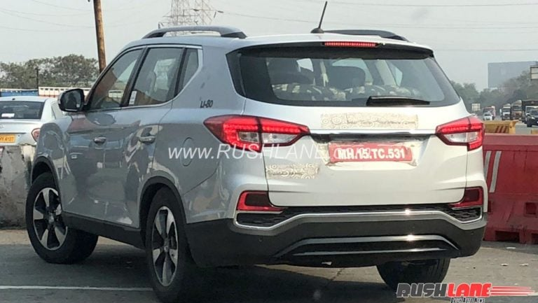 Upcoming Mahindra XUV 700 Spied – Clearest Spyshot In India