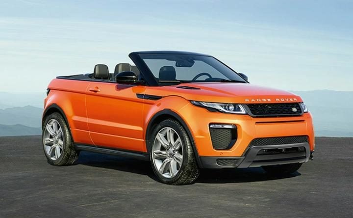 Jaguar Land Rover Range Rover Evoque Convertible Profile