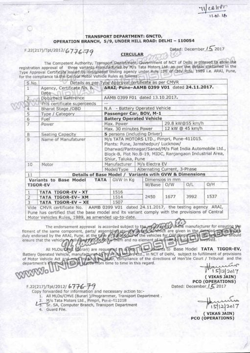 Tata-Tigor-Electric-certification-document-Sheet