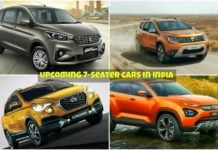 upcoming 7-seater cars in india collage images