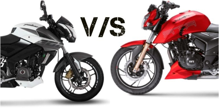 TVS Apache RTR 200 4V Vs Bajaj Pulsar NS200- Specification Comparison