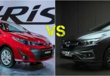 toyota yaris vs honda city exterior profile