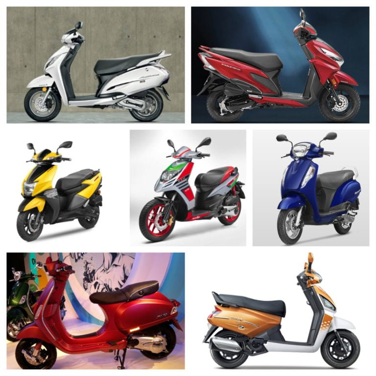 Best 125CC Scooters In India – Price, Specifications, Mileage
